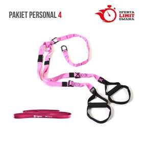 PAKIET PERSONAL 4 (TRX HOME PINK + POWER BAND GT TIGUAR ŚLIWKA)