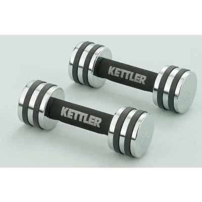 Hantelki chromowane 2*2 kg Kettler 7446-250