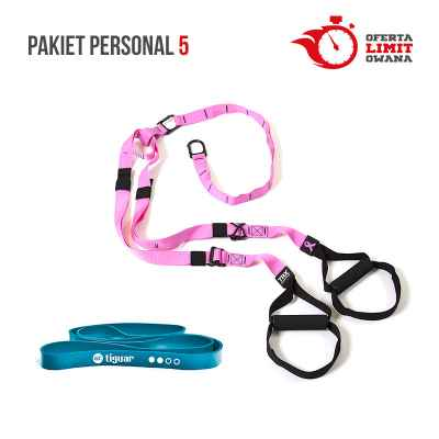 PAKIET PERSONAL 5 (TRX HOME PINK + POWER BAND GT TIGUAR MORSKI)