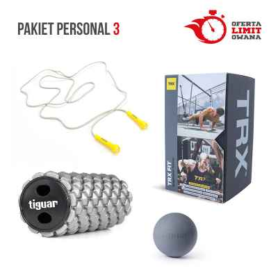 PAKIET PERSONAL 3 (TRX FIT + TIGUAR HEXAGON ROLLER + REEBOK SKAKANKA  + TIGUAR TRIGGER BALL)