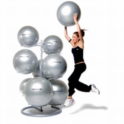 Stojak na piłki gimnastyczne Reebok 9GBR srebrny